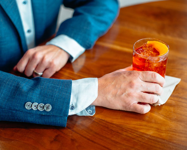 Sport coat and cocktail