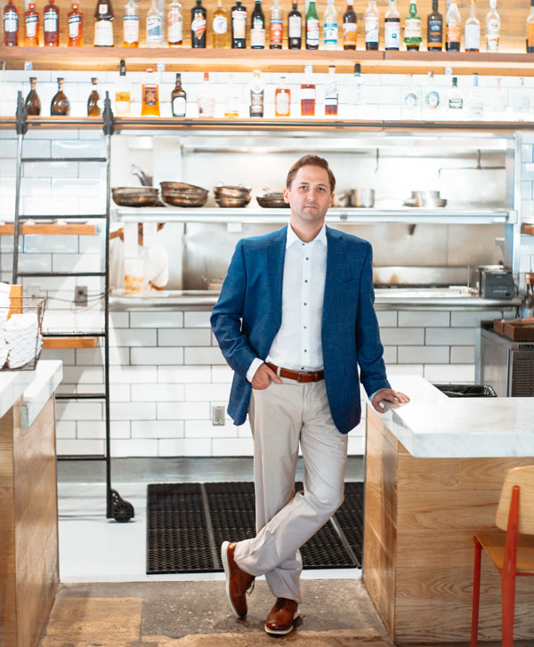 Jimmy Pardini wears Patrick James at the Annex Kitchen