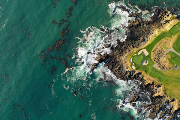 Pebble Beach Golf Course from above
