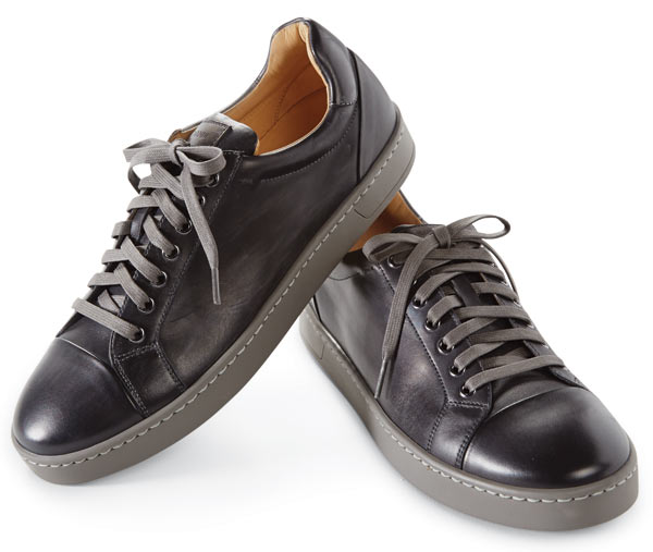 Magnanni Grey Caitin Leather Sneakers