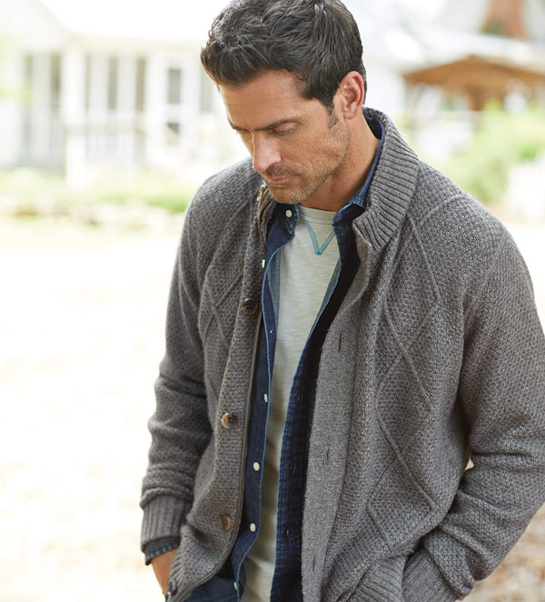 Male model in Patrick James Sweater