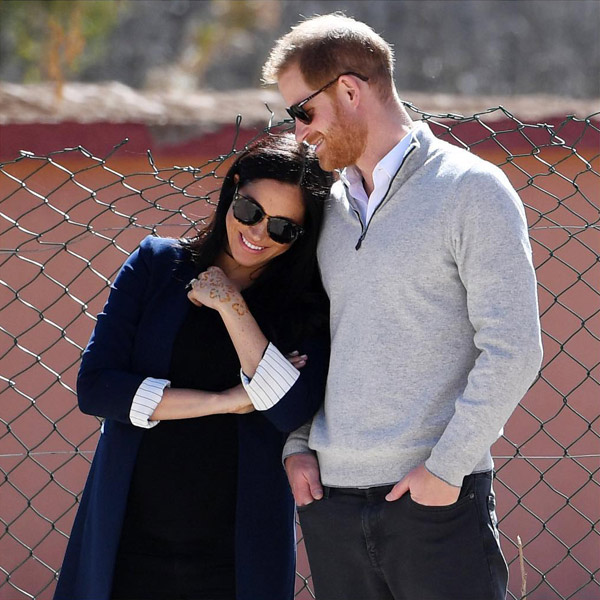 Prince Harry in grey pullover