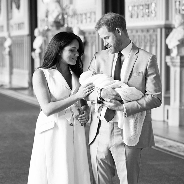 Prince Harry with Meghan and Archie