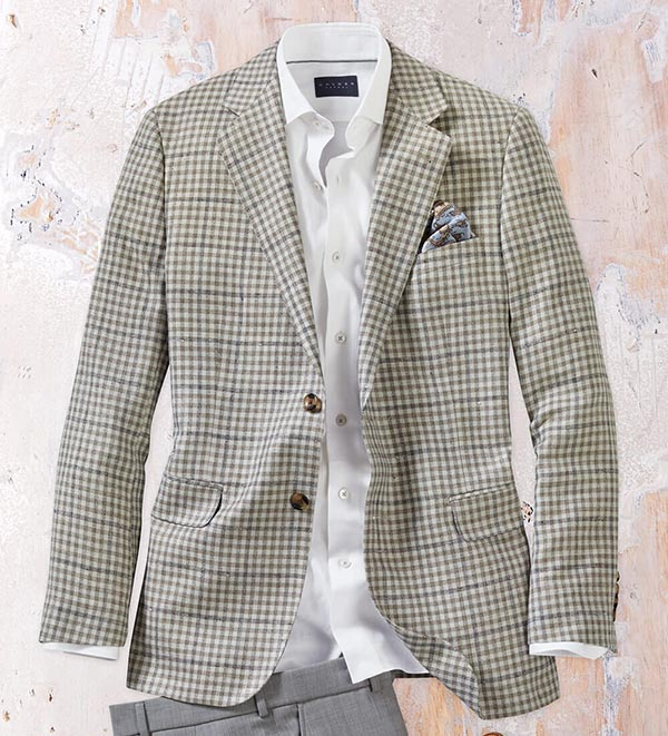 Patrick James District Check Sport Coat for  men