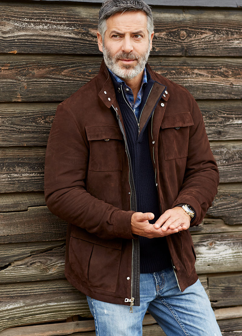 Peter Millar Hampstead Suede Safari Jacket