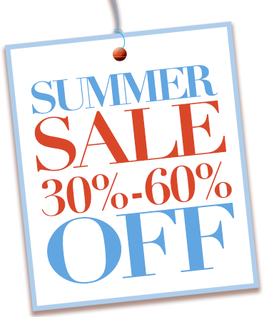 Summer Sale save up to 60 percent