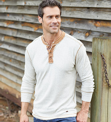 Luxe Long Sleeve Henley Shirt