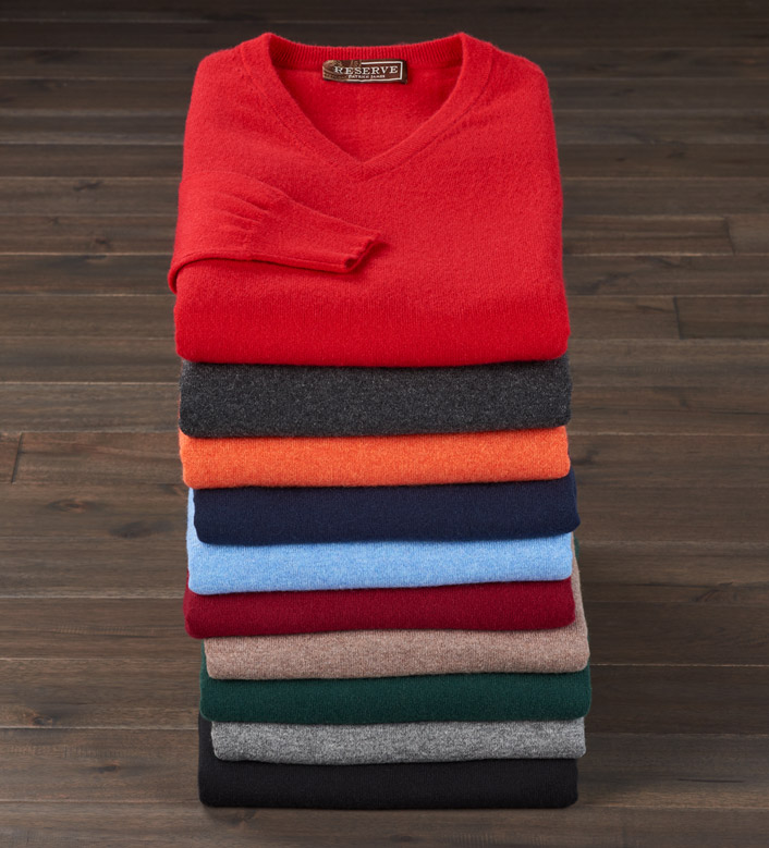 Reserve V-Neck Cashmere Sweater