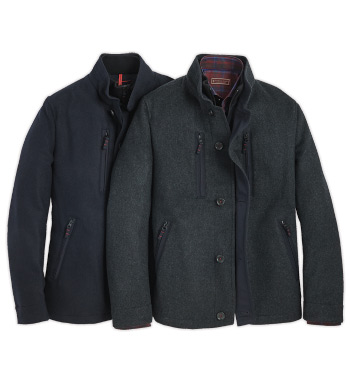 Rain-Repellent Wool Jacket