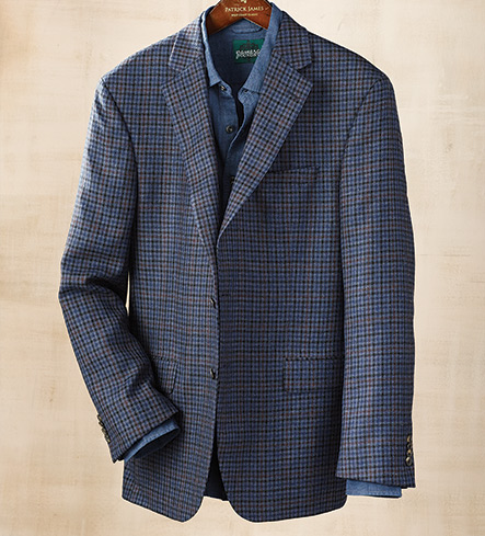 Patrick James District Check Sport Coat