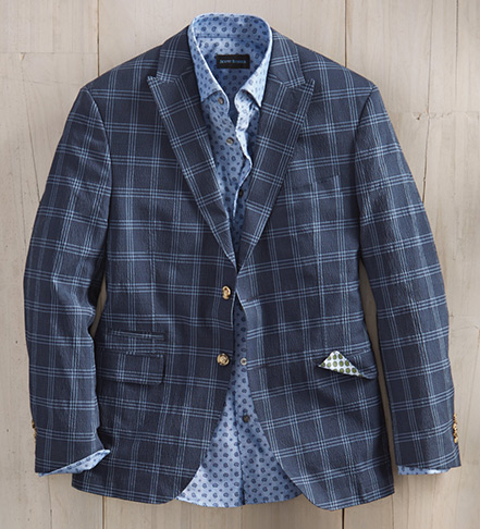 Patrick James Windowpane Seersucker Sport Coat