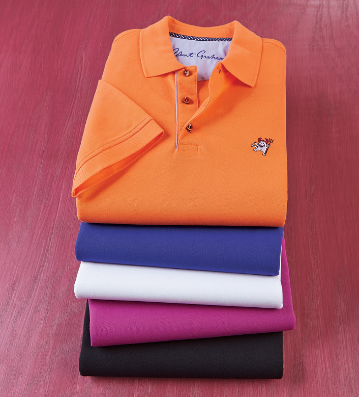 Robert Graham Back Off Pique Knit Polo