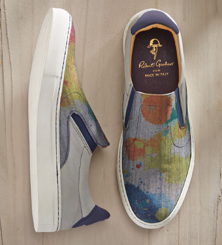 Robert Graham Rolo Canvas Slip-Ons