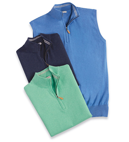 Peter Millar Quarter-Zip Vest