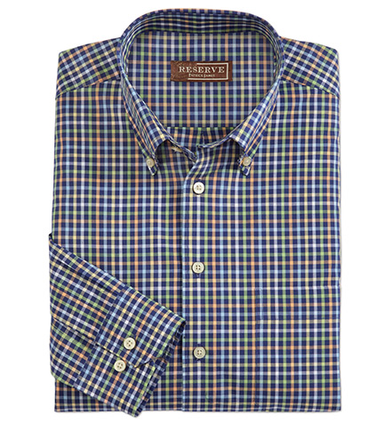 Reserve Long Sleeve Check Sport Shirt