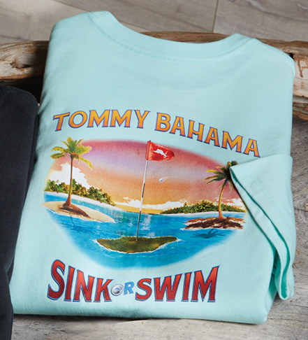 Tommy Bahama Sink or Swim Short Sleeve Tee Shirt
