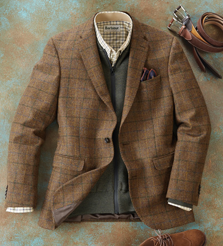 Barbour Windowpane Tweed Jacket