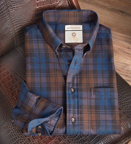 Viyella Plaid Long Sleeve Sport Shirt