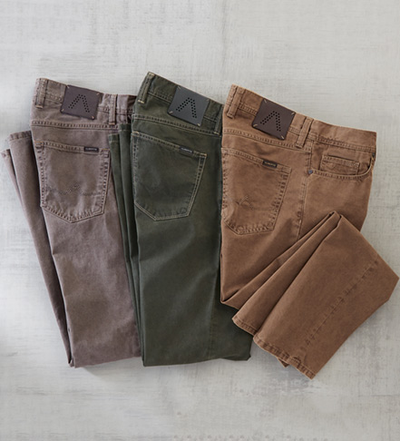 Alberto Stone Broken Twill Five Pocket Jeans