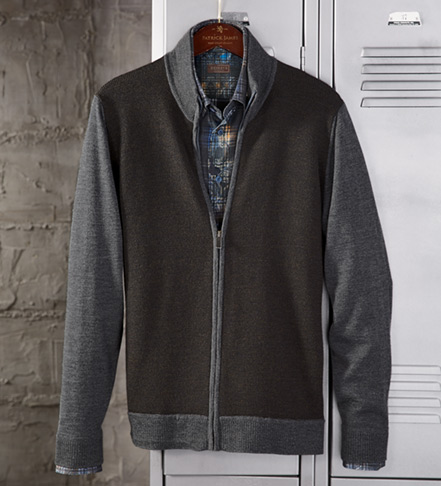 Patrick James Colorblock Cardigan