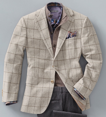 Reserve Grey Windowpane Sport Coat