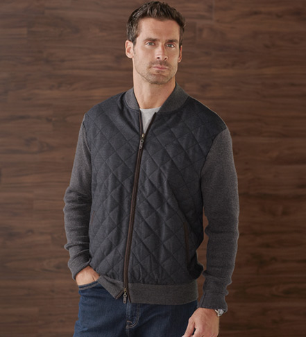 Peter Millar Quilted Sweater Jacket