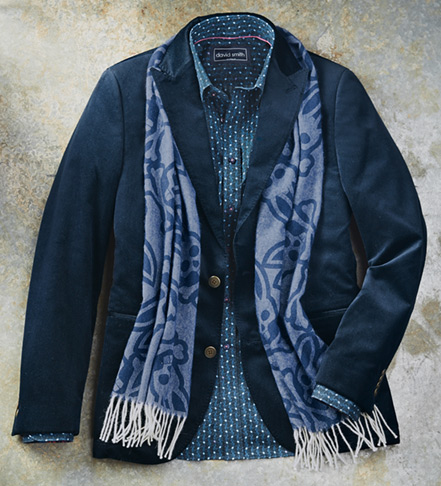 Patrick James Pindot Velvet Sport Coat