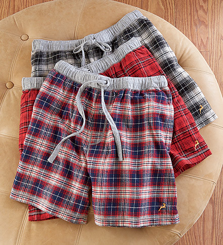True Grit Whiskey Plaid Flannel Boxers