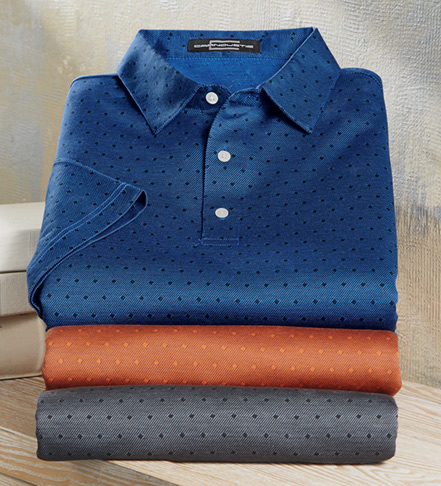 Carnoustie Short Sleeve Jacquard Polo