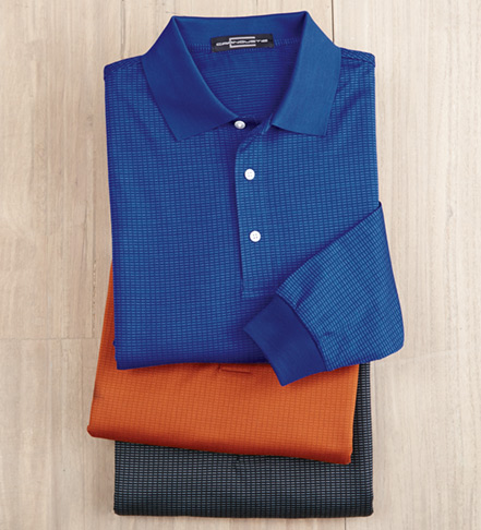 Carnoustie Long Sleeve Jacquard Polo