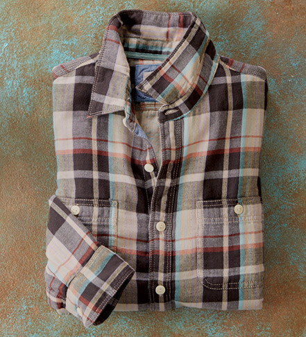 True Grit Venice Harley Plaid Long Sleeve Sport Shirt