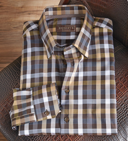 Reserve Twill Check Long Sleeve Sport Shirt
