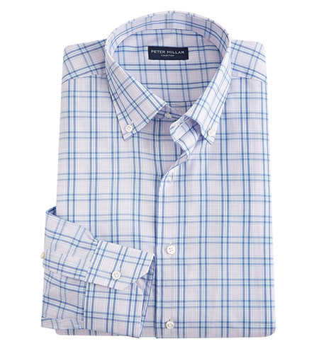 Peter Millar Terrance Check Long Sleeve Sport Shirt