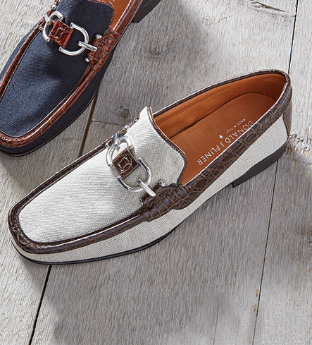 Donald J. Pliner Natural Canvas Slip-On Shoes