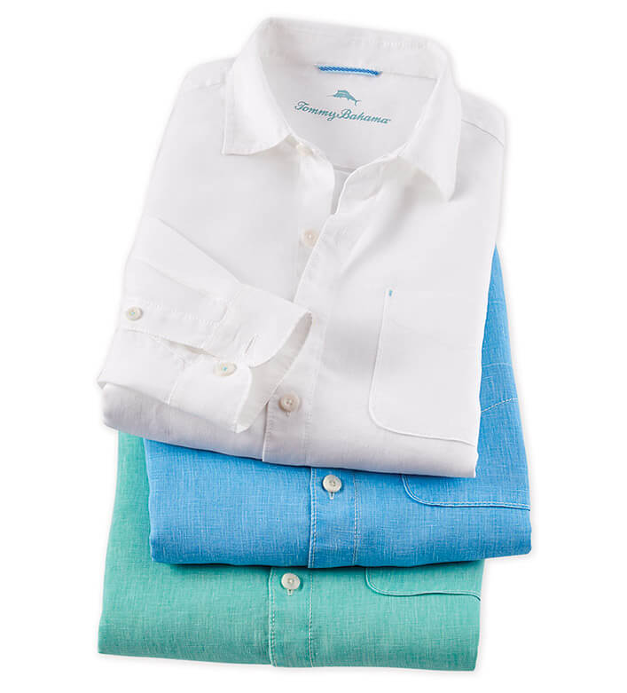 Tommy Bahama Sea Glass Long Sleeve Breezer Sport Shirt