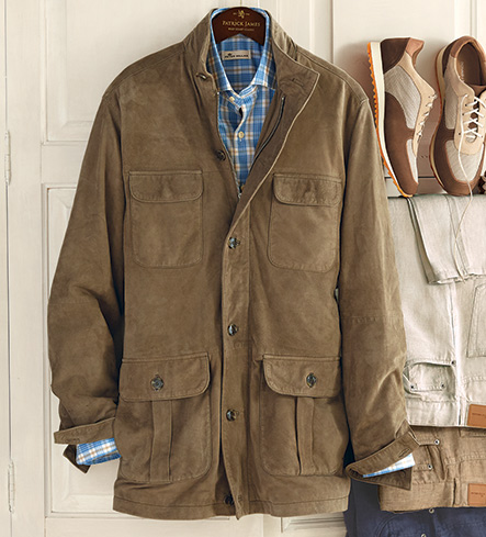 Peter Millar Lightweight Suede Safari Jacket