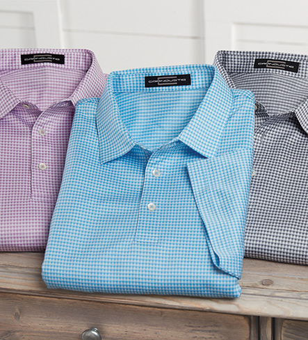 Carnoustie Jacquard Check Short Sleeve Polo
