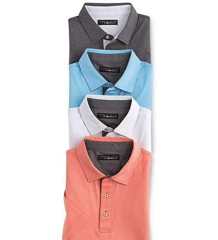 Carnoustie Performance Heather Short Sleeve Polo