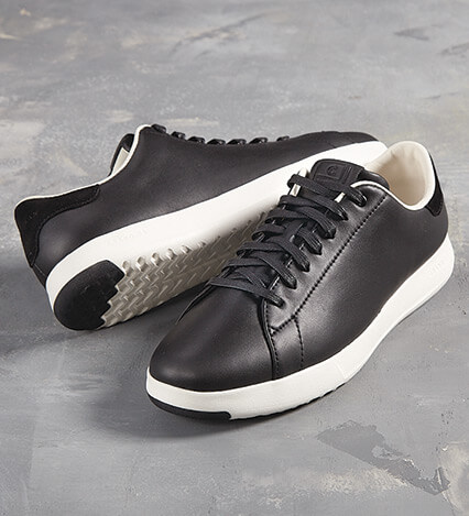 Grand Pro Black Leather Sneakers