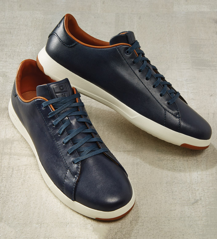 Cole Haan Grand Pro Blue Tennis Sneakers