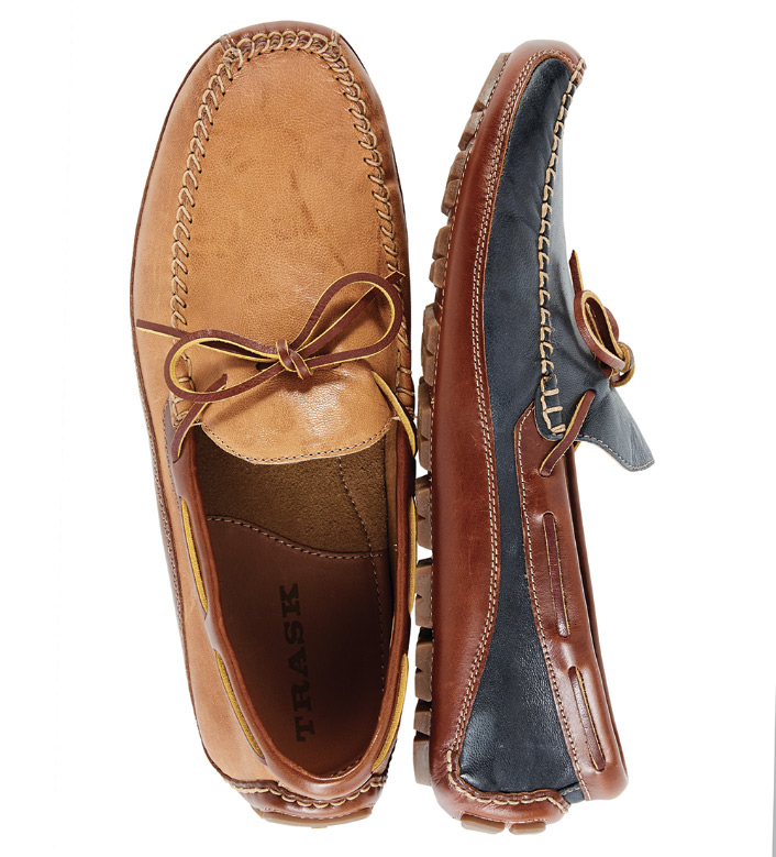 Trask Sheepskin Slip-On Tan Drivers