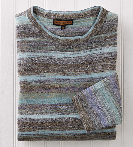 Patrick James Marled Stripe Sweater