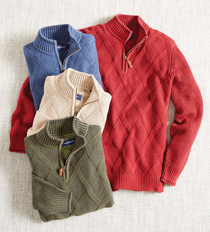 Tommy Bahama Desert Diamond Quarter-Zip Sweater