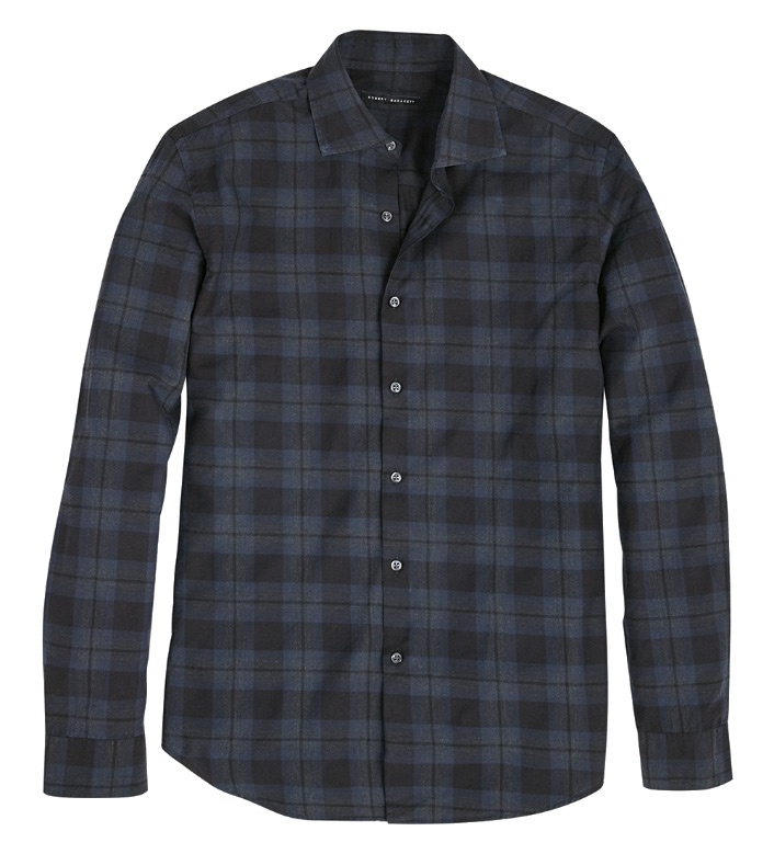 Robert Barakett Minnesota Plaid Long Sleeve Sport Shirt