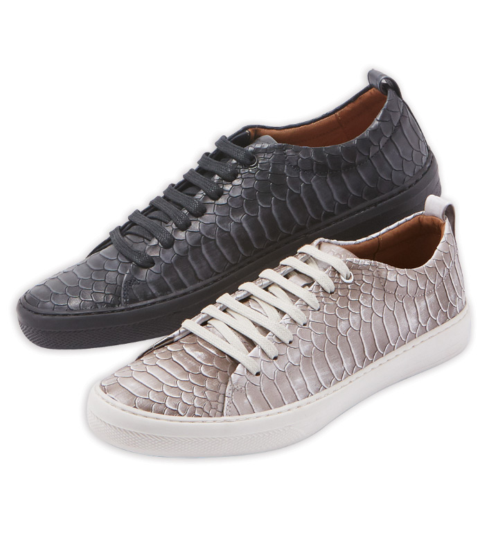 Donald J. Pliner Python Print Leather Sneakers