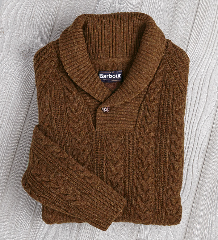 Barbour Galloway Shawl-Collar Sweater