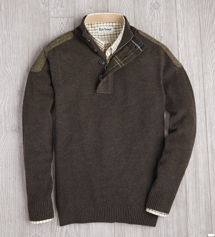 Barbour Charlock Half Button Sweater