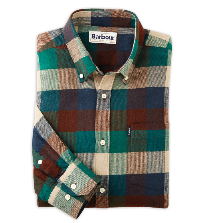 Barbour Angus Check Long Sleeve Flannel Sport Shirt