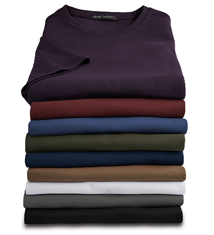 Short Sleeve Luxury Crewneck Tee Shirt