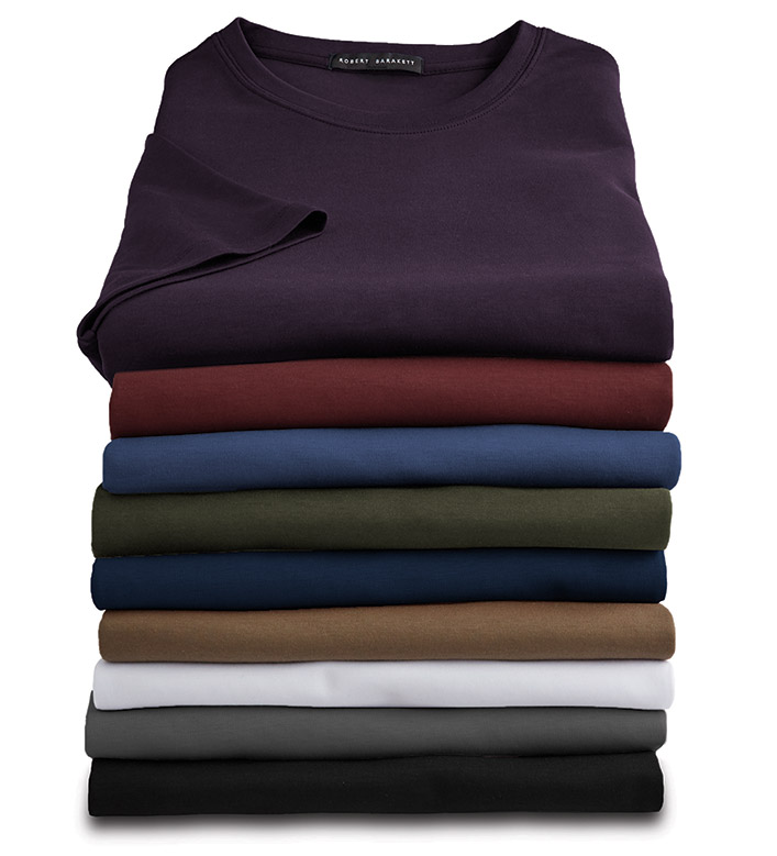 Robert Barakett Short Sleeve Luxury Crewneck Tee Shirt